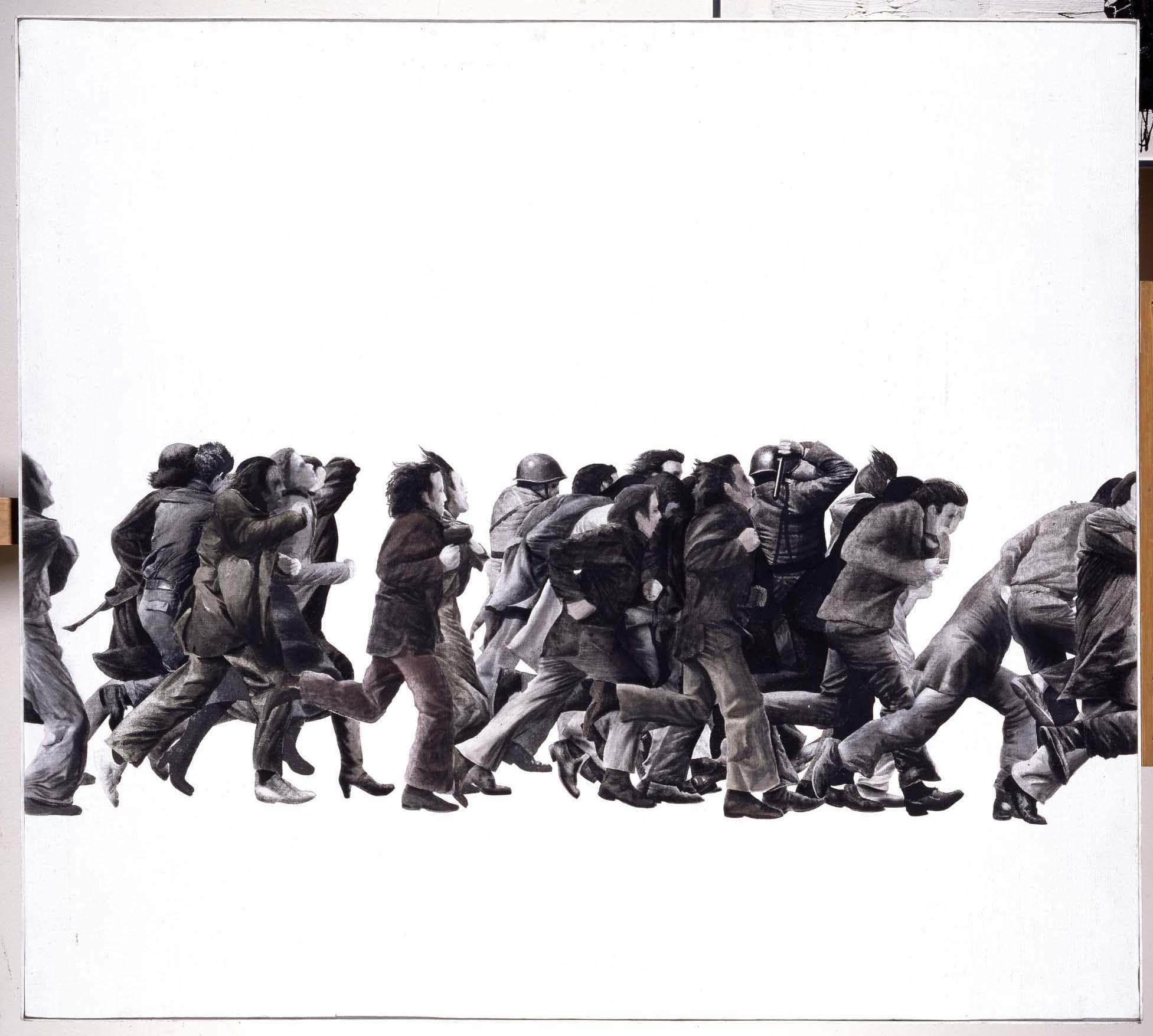 Juan Genovés - Pintura (Gente corriendo)