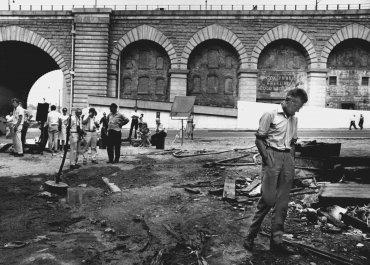 Samuel Beckett en el rodaje de Film. Nueva York, 1964