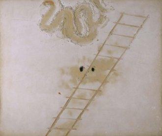 Antoni Tàpies, Superposition de matière grise (Superposición de materia gris), 1961. Óleo y cemento sobre lienzo encolado a madera, 197 x 263 cm