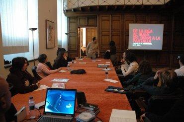 Profesores asistentes durante el desarrollo del curso. Museo Reina Sofía, 2007