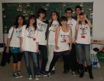 Miembros y educadora del Equipo de jóvenes del Museo Reina Sofía, 2010.