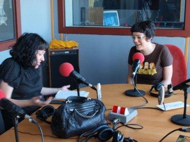 En el estudio de radio. Círculo de Bellas Artes de Madrid, 2011