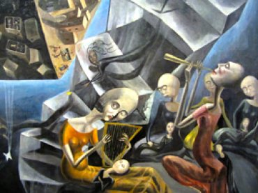 Ángeles Santos, Un mundo, 1929 (detalle). Óleo sobre lienzo, 290 x 310 cm. Museo Reina Sofía
