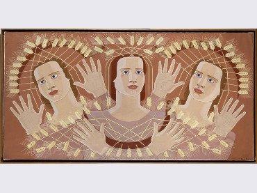 Maruja Mallo. El canto de las espigas. Pintura, 1939. Colección Museo Reina Sofía.