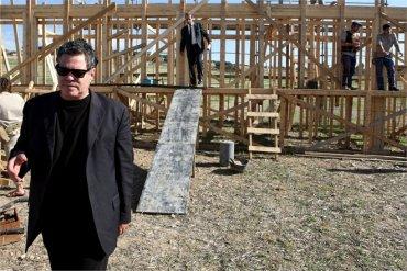 Amos Gitai, en el rodaje de Carmel. Fotografía, 2009