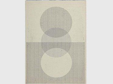 """Elena Asins. Sin título (""""circunferencia""""), 1968-1969 (ca.). Mecanograma sobre papel vegetal"""