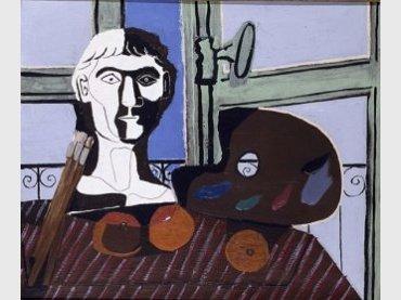 Pablo Picasso. Buste et palette (Busto y paleta), 1925. Óleo sobre lienzo. Museo Nacional Centro de Arte Reina Sofía