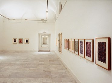 Vista de sala de la exposición. Jasper Johns. Obra gráfica (1960-1985), 1987