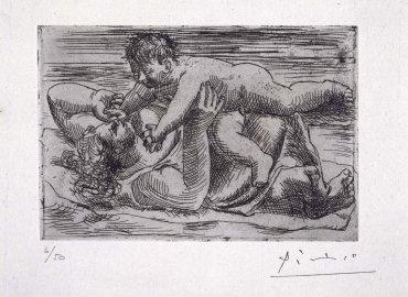Pablo Picasso. Joie maternelle, 1922. Arte gráfico. Colección Museo Nacional Centro de Arte Reina Sofía, Madrid
