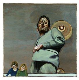 Lucian Freud. Reflejo con dos niños (Autorretrato), 1965. Óleo sobre lienzo. Museo Thyssen Bornemisza, Madrid