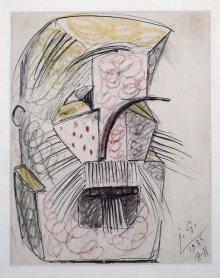 Julio González. Barba y bigote, 1936. Dibujo. Colección Museo Nacional Centro de Arte Reina Sofía, Madrid