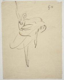 Pablo Gargallo. Bailarina, 1927. Dibujo. Colección Museo Nacional Centro de Arte Reina Sofía, Madrid