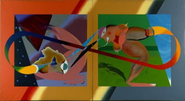 Carlos Alcolea. Matisse de día, Matisse de noche, 1977. Pintura. Colección Museo Nacional Centro de Arte Reina Sofía, Madrid