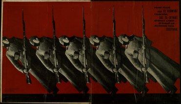 Varvara Stepanova. Ominous Laughter: Rosta Windows, by Vladimir Maiakovskii, 1932. Biblioteca y Centro de Documentación, Museo Nacional Centro de Arte Reina Sofía, Madrid