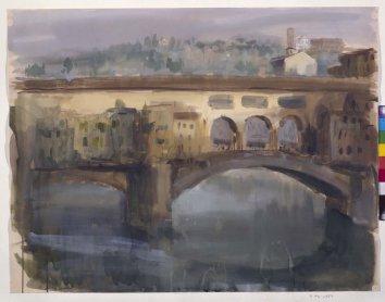Ramón Gaya. Ponte Vecchio, 1962. Dibujo. Colección Museo Nacional Centro de Arte Reina Sofía, Madrid