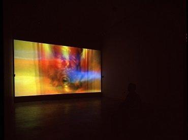 Vista de sala de la exposición. Jeremy Blake. Winchester, 2003