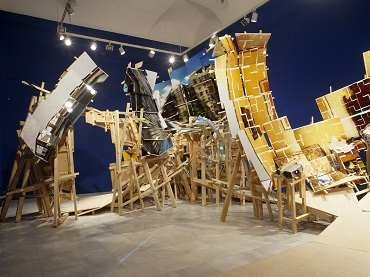 Vista de sala de la exposición. Isidro Blasco. Thinking about that place, 2004