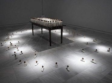 Vista de sala de la exposición. Amy Cutler. Alteraciones, 2007