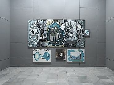 Exhibition view. Luis Gordillo. Tropical Iceberg, 2007