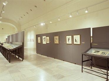 Vista de sala de la exposición. Juan Gris, dibujante de prensa: de Madrid a Montmartre, 2003