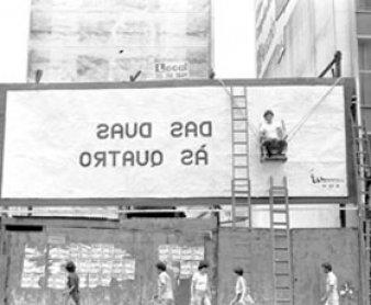 Manga Rosa. Arte ao ar livre. Intervención de Viajou Sem Passaporte Sao Paulo, 1981-1982. Courtesy Archivo Jorge Bassani