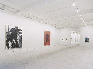 Vista de sala de la exposición. Franz Kline. Arte y estructura de la identidad, 1994