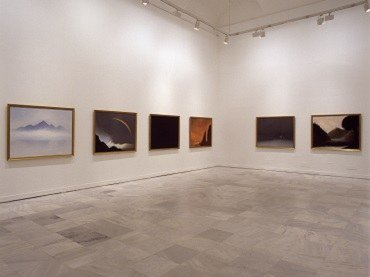 Vista de sala de la exposición. Nedko Solakov. Paisajes románticos con elementos ausentes, 2003