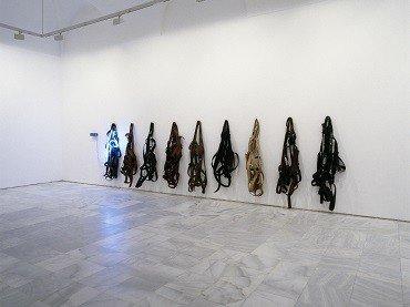 Vista de sala de la exposición Richard Serra, 1992