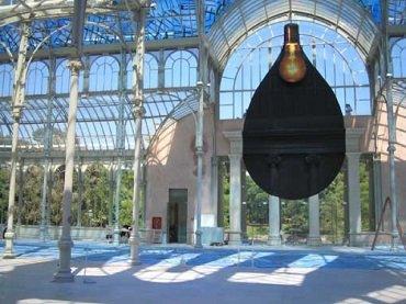 Vista de sala de la exposición. Regina Silveira. Lumen, 2005