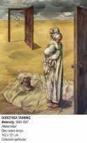 Maternity (Maternidad ), 1946–7. Dorothea Tanning.