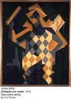 Juan Gris. Arlequín con violín, 1919. Óleo sobre lienzo. 91,7 x 73 cm
