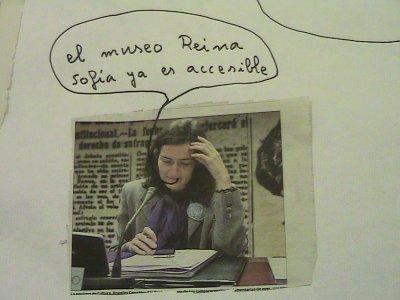 Collage fotográfico realizado por el grupo Conect@.Museo Reina Sofía, 2011.