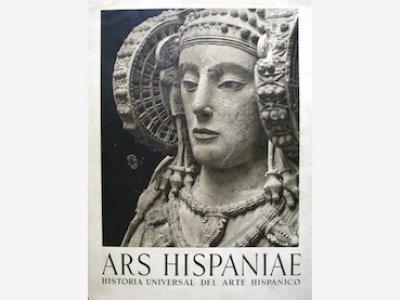 Ars Hispaniae: Historia Universal del Arte Hispánico. Portada de libro, primera edición, 1947-1958