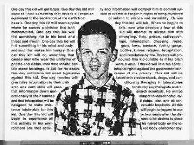 David Wojnarowicz, Untitled (One Day This Kid...) [Sin título (Un día, este niño…)], 1990-1991. Whitney Museum of American Art, Nueva York; adquisición con fondos del Print Committee 2002.183