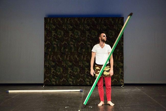 Steve Paxton. Bound. Performed by Jurij Konjar. Photograph by Nada Žgank