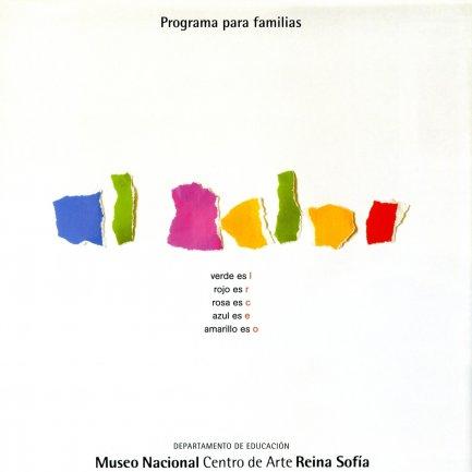 Portada de la Guía para familias utilizada para realizar la visita autónom. Museo Reina Sofía, 2007.