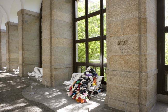 Intervención de José Damasceno en el Edificio Sabatini