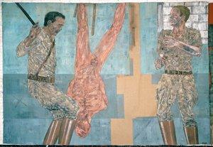 Leon Golub. Interrogatorio I (Interrogation I), 1981. Acrílico sobre Lino. © The Estate of Leon Golub, VEGAP, Madrid, 2011
