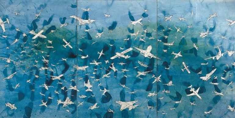Alighiero e Boetti. Aerei (Blue), 1989. Carmignac Gestion Foundation