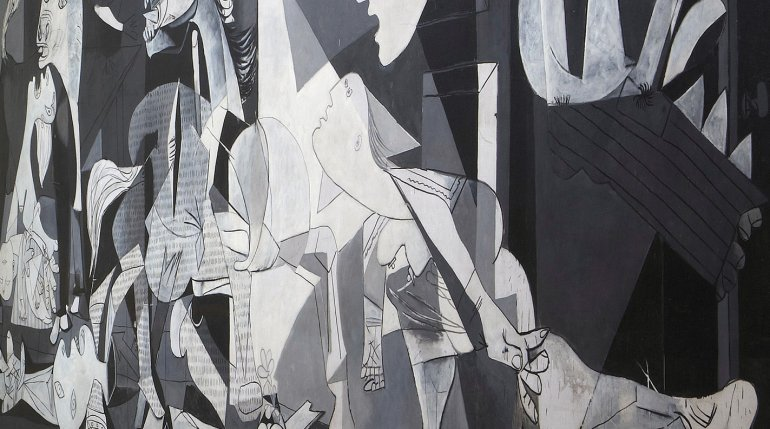 Pablo Picasso. Guernica, 1937. detail