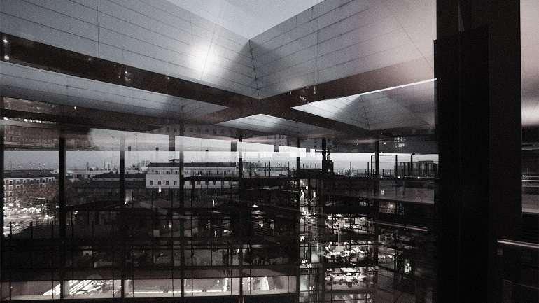 Vista del Edificio Nouvel, Museo Reina Sofía