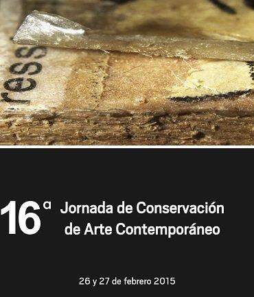 Cartel 16ª Jornada de Conservación de Arte Contemporáneo