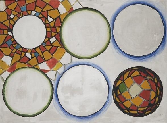Andrzej Wróblewski, Słońce i inne gwiazdy (Sol y otras estrellas), 1948, Muzeum Sztuki w Łodzi © Cortesía Andrzej Wróblewski Foundation