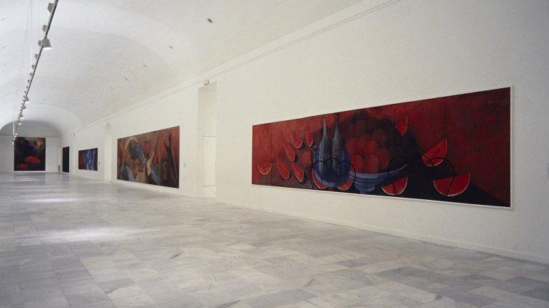 Vista de sala de la exposición. Rufino Tamayo. Pinturas, 1988