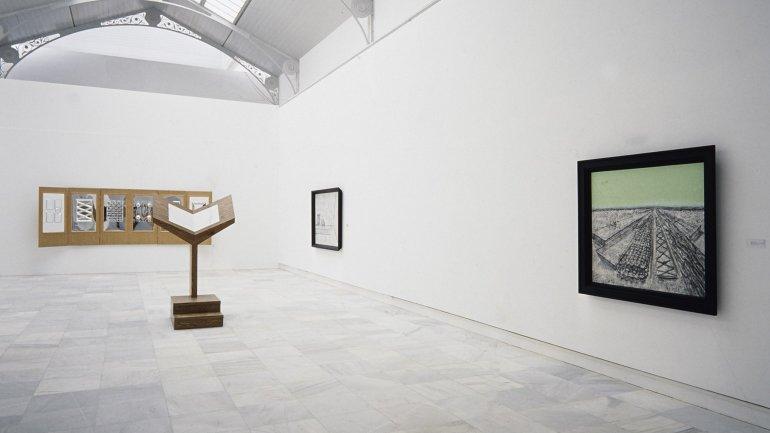 Vista de sala de la exposición. Richard Artschwager, 1989