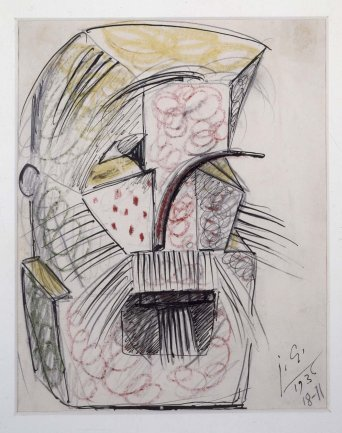 Julio González. Barba y bigote, 1936. Drawing. Museo Nacional Centro de Arte Reina Sofía Collection, Madrid