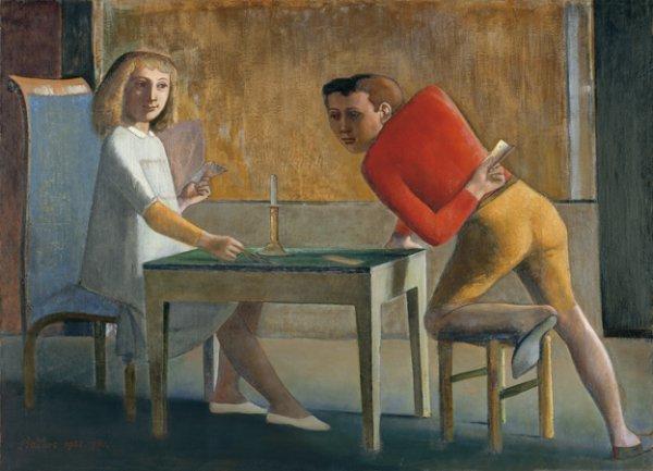 Balthus. The Card Game, 1948-1950. Oil on canvas. Museo Thyssen-Bornemisza, Madrid