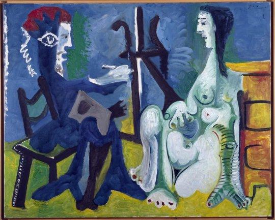 Pablo Picasso. El pintor y la modelo, 1963. Pintura. Colección Museo Nacional Centro de Arte Reina Sofía, Madrid