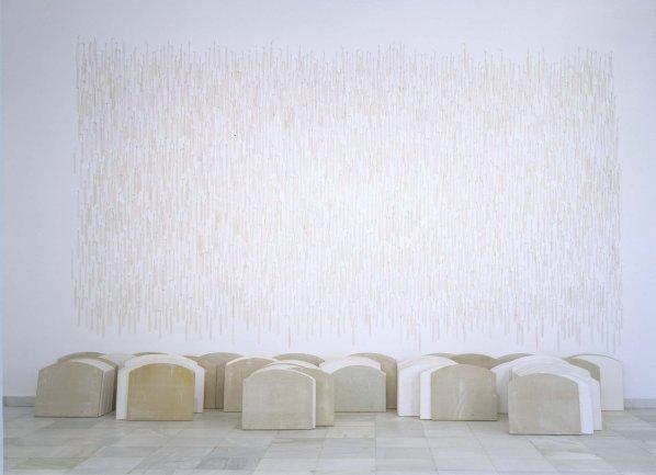 Carmen Calvo. Silencio, 1995. Instalación. Colección Museo Nacional Centro de Arte Reina Sofía, Madrid