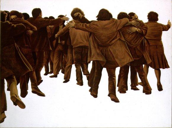 Juan Genovés. El abrazo, 1976. Pintura. Colección Museo Nacional Centro de Arte Reina Sofía, Madrid